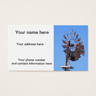 Molino de viento 1 tarjetas de visita