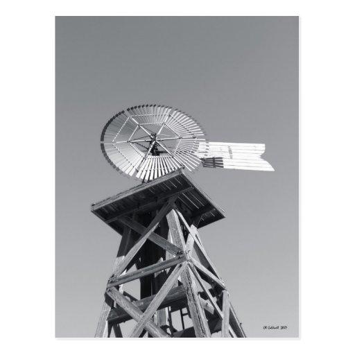 Molino de viento a partir del pasado postal