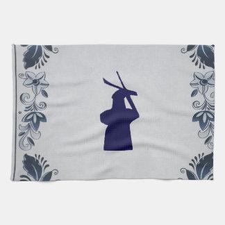 """Molino de viento azul """"de Roos"""" de la teja de Toalla"""