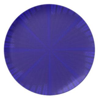 Molino de viento azul plato de cena
