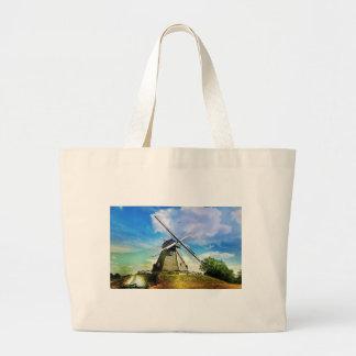 Molino de viento bolsas lienzo