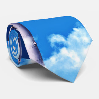 Molino de viento contra el cielo corbata personalizada