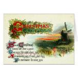 Molino de viento de 1912 saludos del navidad felicitacion