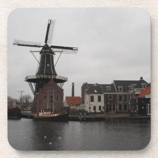 """Molino de viento """"De Adrián"""", Haarlem Posavasos"""
