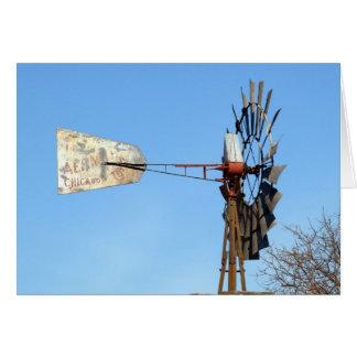 Molino de viento de Aermotor Felicitación