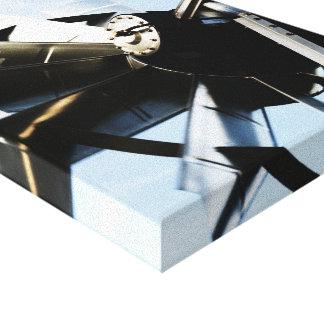 Molino de viento de aluminio impresión en lona estirada