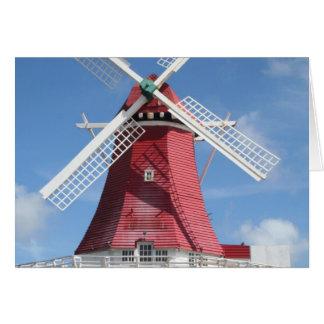 Molino de viento de Aruba Tarjeta De Felicitación