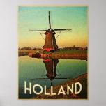 Molino de viento de Holanda Impresiones