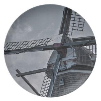 Molino de viento de Holanda MI Platos De Comidas