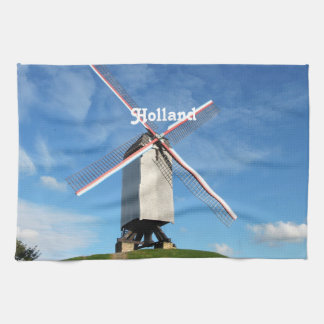 Molino de viento de Holanda Toalla De Cocina