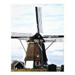 Molino de viento de Holanda Plantilla De Membrete