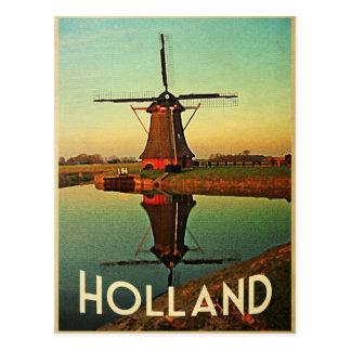 Molino de viento de Holanda Postal