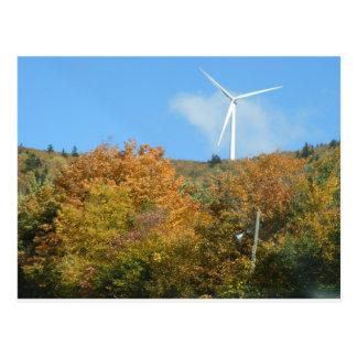 Molino de viento de la caída en la montaña Maine Tarjeta Postal