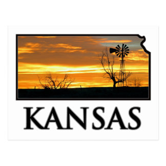 Molino de viento de la granja de Kansas Tarjeta Postal