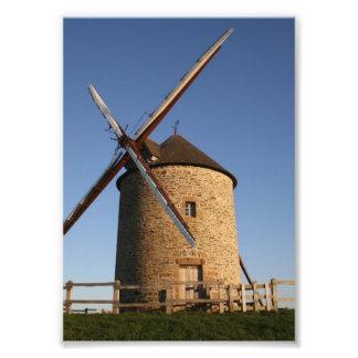 Molino de viento de Moidrey, Normandía, Francia Impresiones Fotográficas