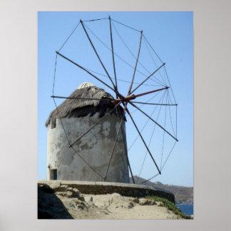 Molino de viento de Mykonos Impresiones