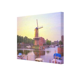 Molino de viento de Rotterdam, de Schiedam y puert Impresiones En Lona Estiradas