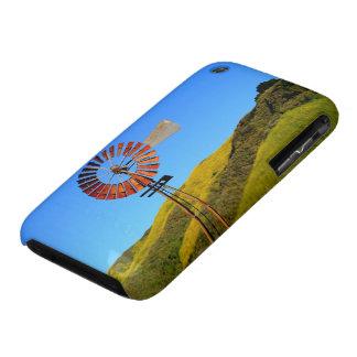Molino de viento del bombeo de agua iPhone 3 Case-Mate protectores