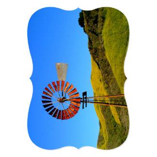 """Molino de viento del bombeo de agua invitación 5"""" x 7"""""""