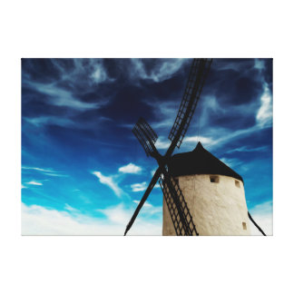 Molino de viento del Viejo Mundo Lona Estirada Galerías