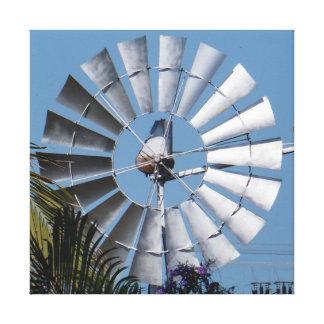 molino de viento en Australia Lienzo Envuelto Para Galerias