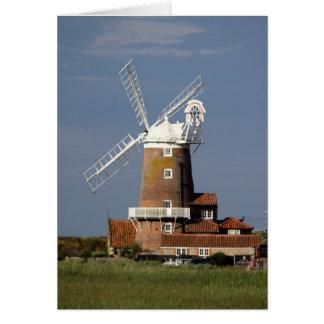 Molino de viento en Cley, Norfolk del norte Tarjetas