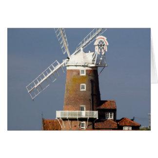 Molino de viento en Cley, Norfolk del norte Tarjeta De Felicitación