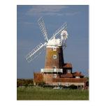 Molino de viento en Cley, Norfolk del norte Postales