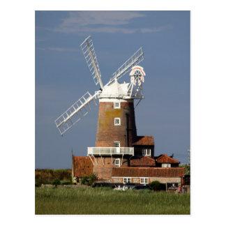 Molino de viento en Cley, Norfolk del norte Tarjeta Postal