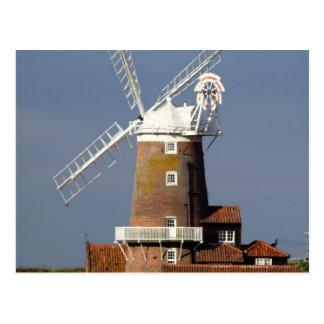 Molino de viento en Cley, Norfolk del norte Tarjetas Postales