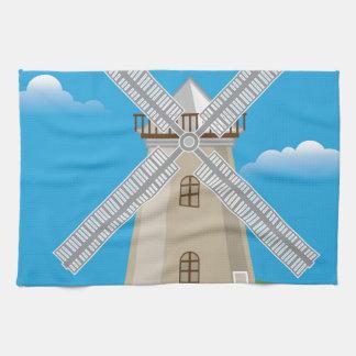 Molino de viento en color toallas