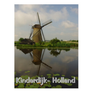 Molino de viento en Kinderdijk Tarjetas Postales
