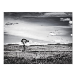 Molino de viento en la impresión del arte de los l foto