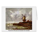 Molino de viento en Wijk de Jacob Isaacksz.Van Rui Tarjetas