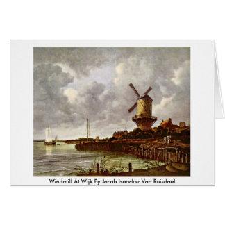 Molino de viento en Wijk de Jacob Isaacksz.Van Rui Tarjeta De Felicitación