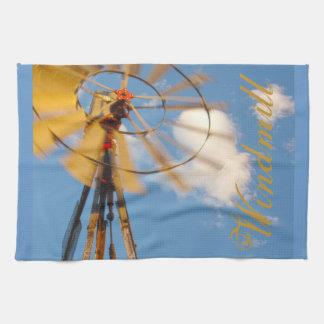 Molino de viento grande de Wyoming de la toalla de