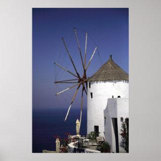 Molino de viento griego poster