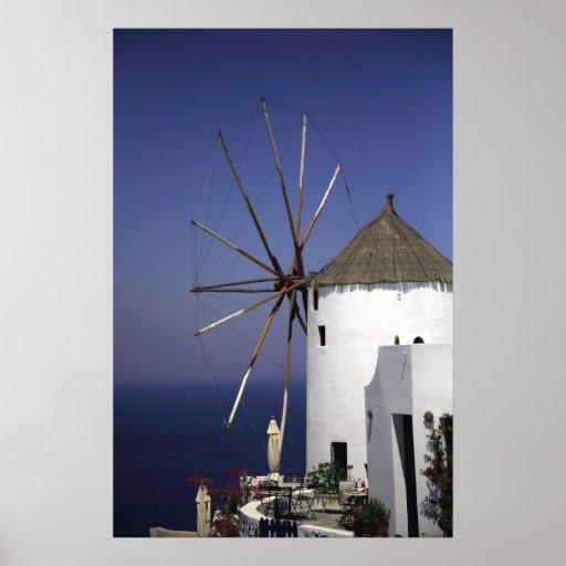 Molino de viento griego póster