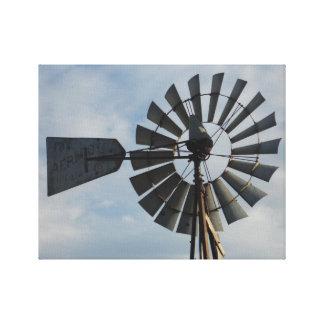 Molino de viento hermoso lienzo envuelto para galerías