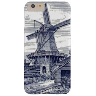 Molino de viento holandés azul antiguo azul marino funda barely there iPhone 6 plus