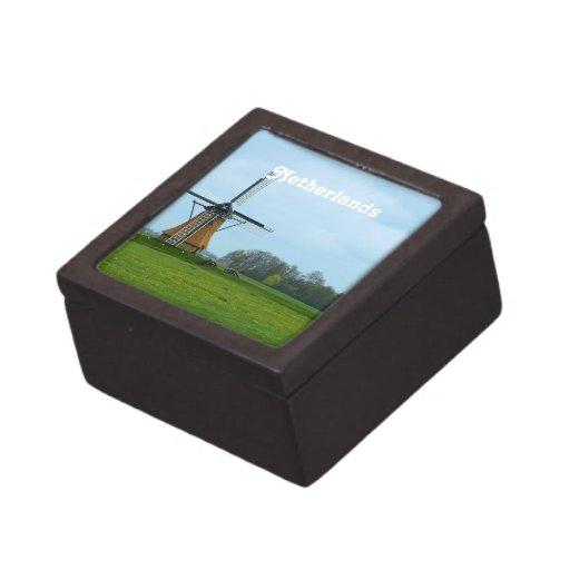 Molino de viento holandés cajas de joyas de calidad