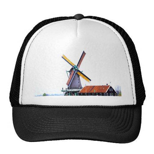 Molino de viento holandés de la energía gorras