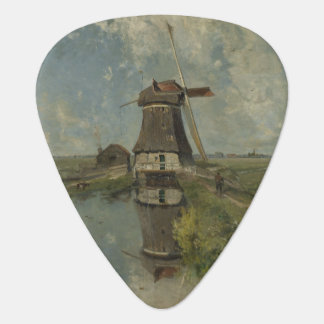 Molino de viento holandés en el canal Paul Gabriël Púa De Guitarra