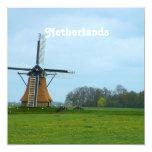 Molino de viento holandés invitación personalizada
