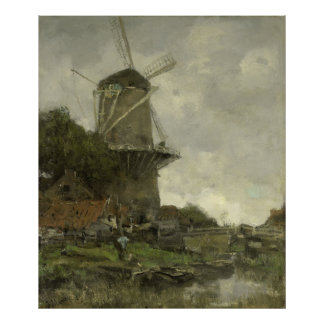 Molino de viento holandés, Jacob Maris Póster