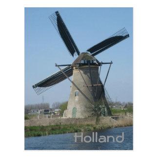 Molino de viento holandés tarjeta postal