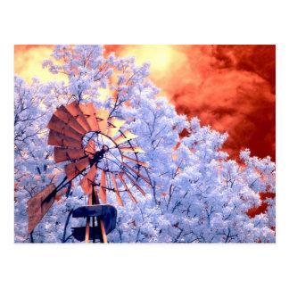 Molino de viento infrarrojo postal