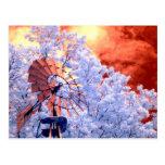 Molino de viento infrarrojo tarjeta postal
