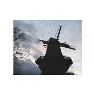 Molino de viento lona envuelta para galerías