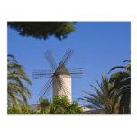 Molino de viento, Palma, Mallorca, España Tarjetas Postales